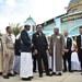 พลเอก ประยุทธ์ จันทร์โอชา (กลาง) นายกรัฐมนตรีพบปะกับเจ้าหน้าที่ฝ่ายศาสนามุสลิมในระหว่างการเยือนคณะกรรมการอิสลามนราธิวาส ในจังหวัดนราธิวาส วันที่ 20 มกราคม 2563
