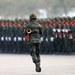 ทหารในขบวนสวนสนามประจำปี ในพระราชพิธีพระบรมราชาภิเษกของรัชกาลที่ 10 ที่กองพันทหารม้า จังหวัดสระบุรี วันที่ 18 มกราคม 2563