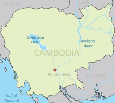 แผนที่โตนเลสาบ ในกัมพูชา ภาพ: เรดิโอ ฟรี เอเชีย