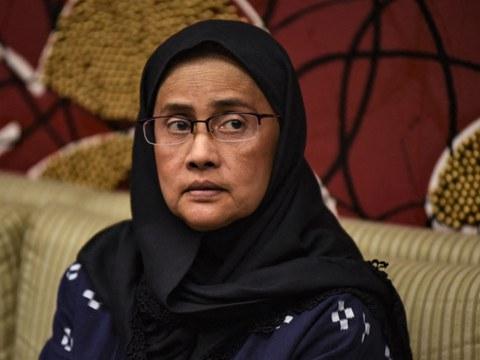 นาง อังคณา นีละไพจิตร ผู้ได้รับรางวัลรามอน แม็กไซไซ ร่วมงานแถลงข่าวกับสมาคมผู้สื่อข่าวต่างประเทศแห่งฟิลิปปินส์ ในกรุงมะนิลา เมื่อวันที่ 6 กันยายน 2562