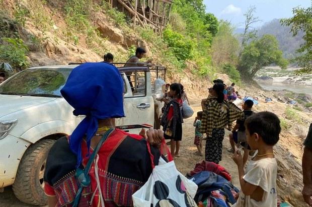ชาวบ้านแม่สามแลบกว่า 400 คน อพยพหลังกะเหรี่ยงปะทะพม่า